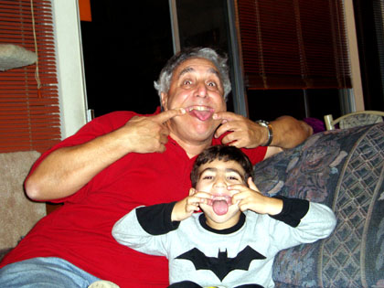 Shor and Grandpa Funny Faces