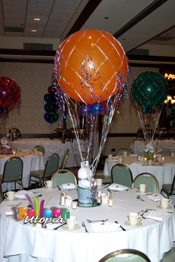 Hot Air Balloon Centerpiece