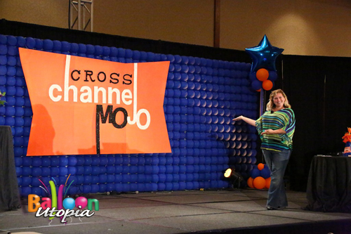 Balloon Stage Wall Backdrop w Custom Logo