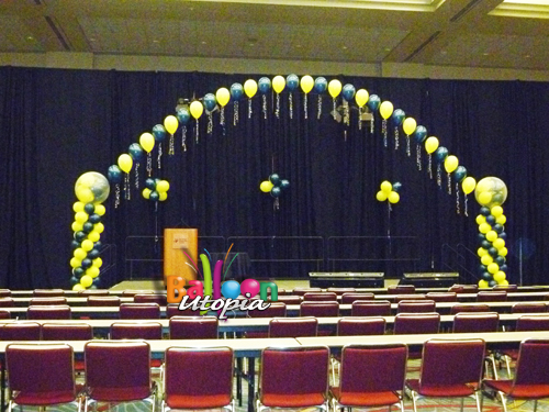Recent events branded stages and awards san diego for Balloon decoration for stage