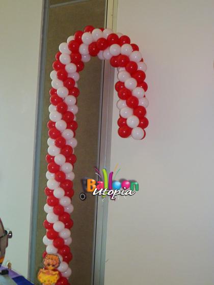 Candycane Balloon Sculpture
