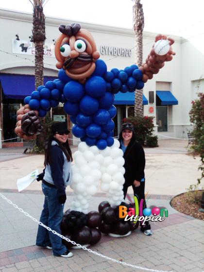 Baseball Pitcher Balloon Sculpture