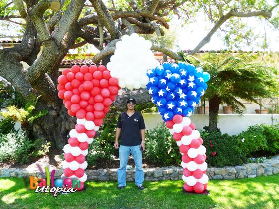 Patriotic Star Balloon Entrance