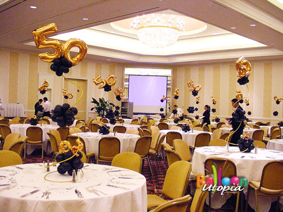 San diego anniversary party decorations for Decor company