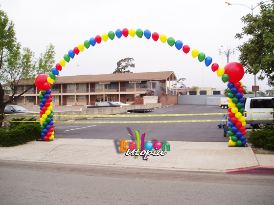 San Diego Birthday Party Arch