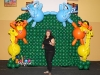 Balloon Wall with Animal Arch