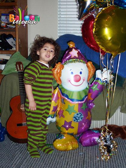 Balloon Clown Holding Balloons