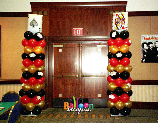 San Diego Casino Theme Decor by Balloon Utopia