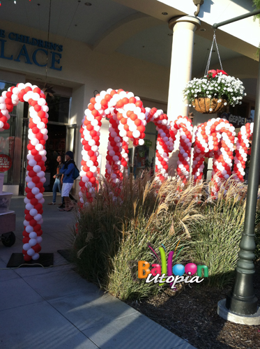 Christmas Theme Balloons San Diego By Balloon Utopia
