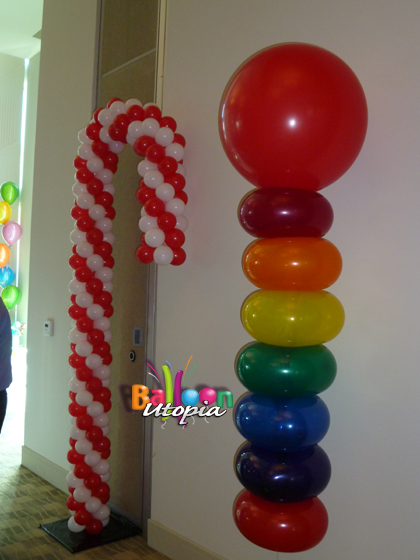 lifesaver and candycane balloons - Christmas Balloon Decor