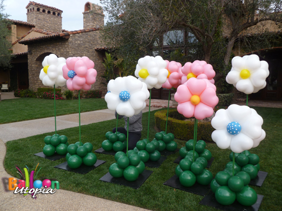 Balloon Flower Wall Decoration : San diego event decor by balloon utopia