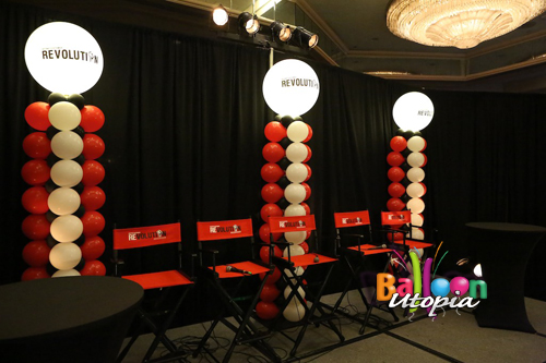 Light Up Square Columns From Balloons by San Diego Balloon Company Balloon Utopia