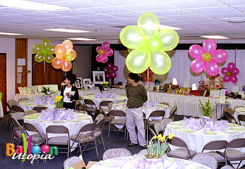 Flower Themed Centerpieces