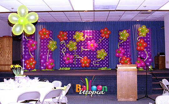 Flower Power Stage Backdrop