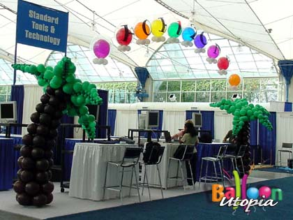 Tropical Trade Show Booth Decor