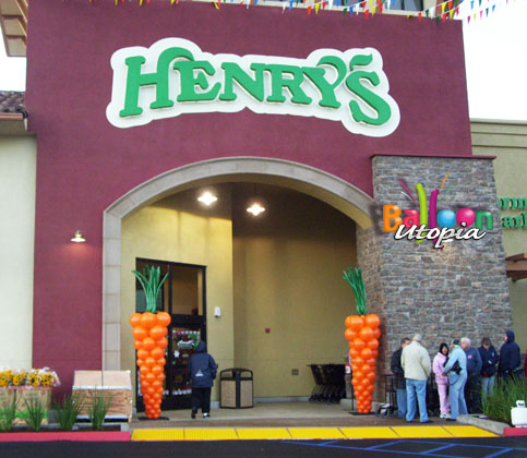 9' Carrots for Henry's Grand Opening