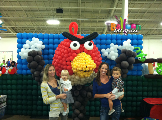 Angry Bird Balloon Parody Photo Op