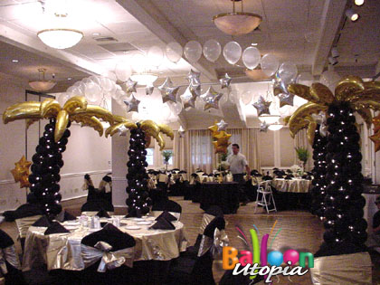 Black and Gold Tropical Decor