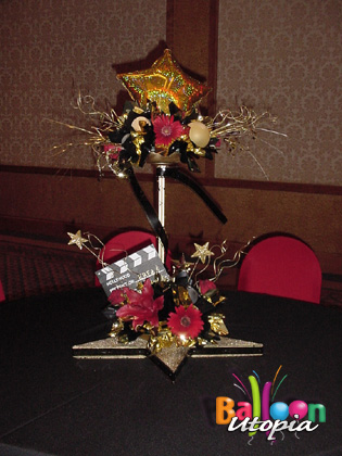 Elegant Live Floral and Balloon Centerpiece