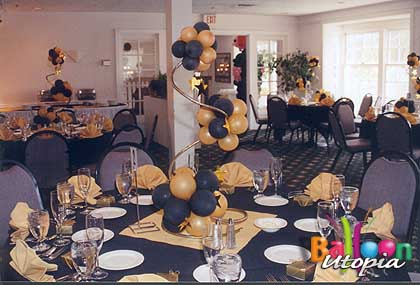 Spiral Topiary in Black and Gold