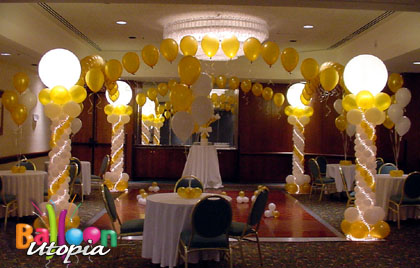 San diego dance floor decor by event experts balloon utopia for Balloon dance floor decoration