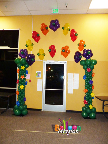 Flower themed arch