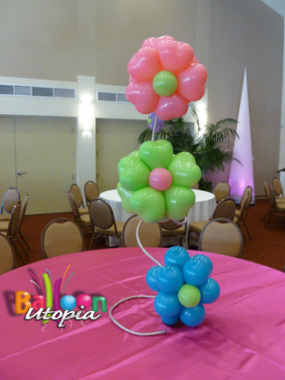 Balloon Flower Spiral Topiary Centerpiece
