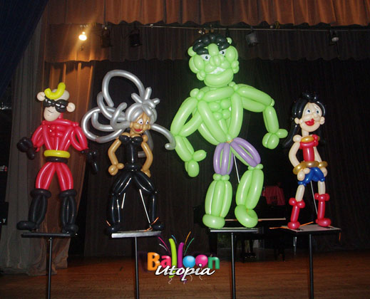 Large superhero parady centerpieces