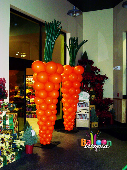 9' Carrot Sculptures