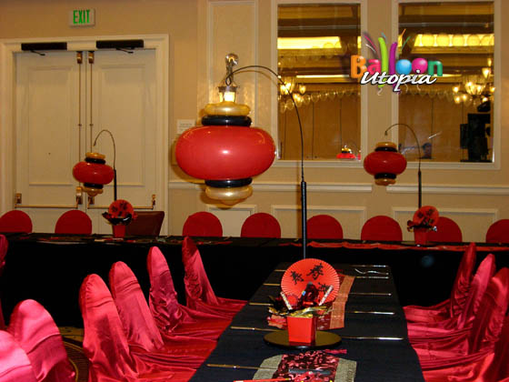 Asian themed centerpieces
