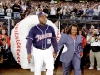 Tony Gwynn walking out of 10' baseball tunnel