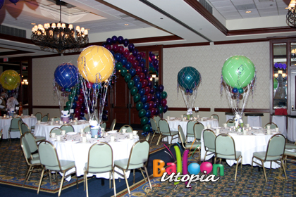 San Diego Bar Mitzvah Decorations by Balloon Utopia