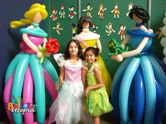 5' Balloon Princess Sculptures by San Diego Balloon Specialists Balloon Utopia