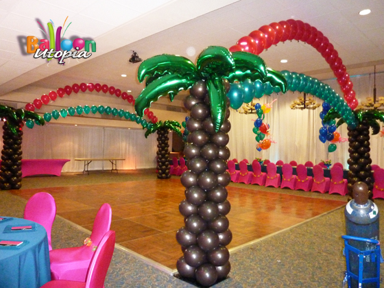 Tropical Theme Dance Floor