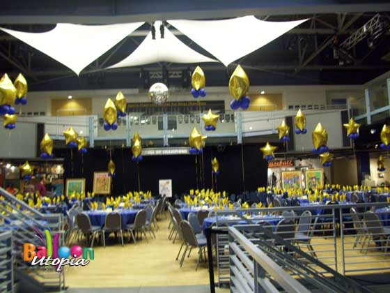 Star themed banquet decor