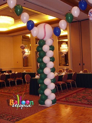 San diego sports theme decor by balloon utopia for Athletic banquet decoration ideas