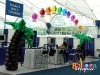 San Diego Trade Show Decor- Tropical Booth Decor