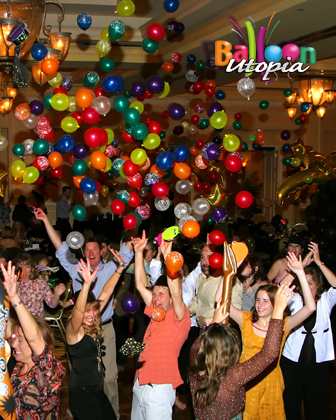 Special Effect exploding balloons add an extra something to this corporate event