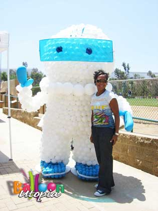 Larger than life size corporate mascot for Company Picnic