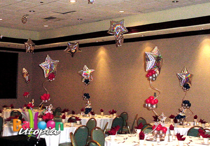 Celebrate your company with centerpieces that are both upscale and fun!
