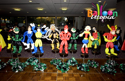 Superhero themed centerpieces for private event